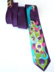 Purple Peacock Necktie