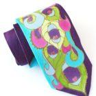 Purple Peacock Necktie