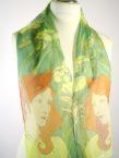 Art Nouveau Girl Silk Scarf