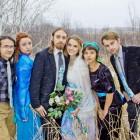 peacock wedding party