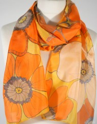 Orange Floral Scarf