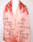 Love Quotes Silk Scarf