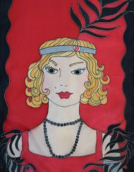 Red Black Gatsby Scarf