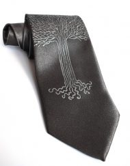 White Tree Gray Tie