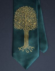 Green LOTR Tree Tie