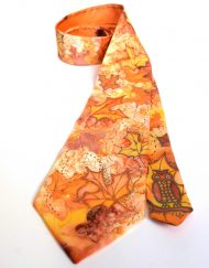 Orange Maple Leaves Tie