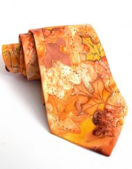Orange Maple Leaves Tie (