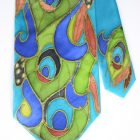 Emerald Peacock Feathers Tie