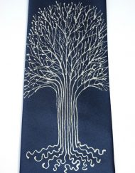 White Tree Navy Tie